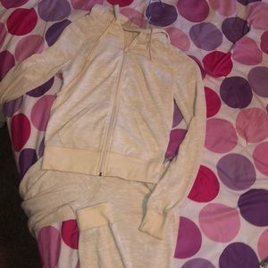 Other - A tan track suit.